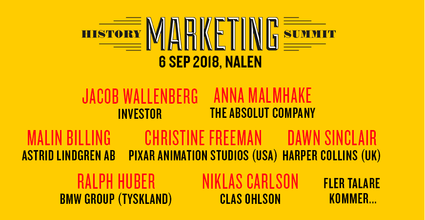 history marketing summit 2018