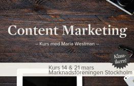 Kurs: Content Marketing