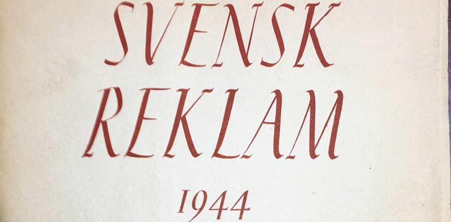 Svensk reklam 1944 omslag
