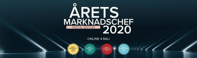 Pressmeddelande: Årets Marknadschef utses i digitalt event